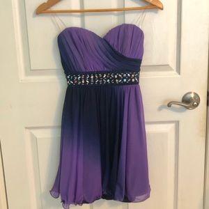 Purple homecoming/semi-formal dress
